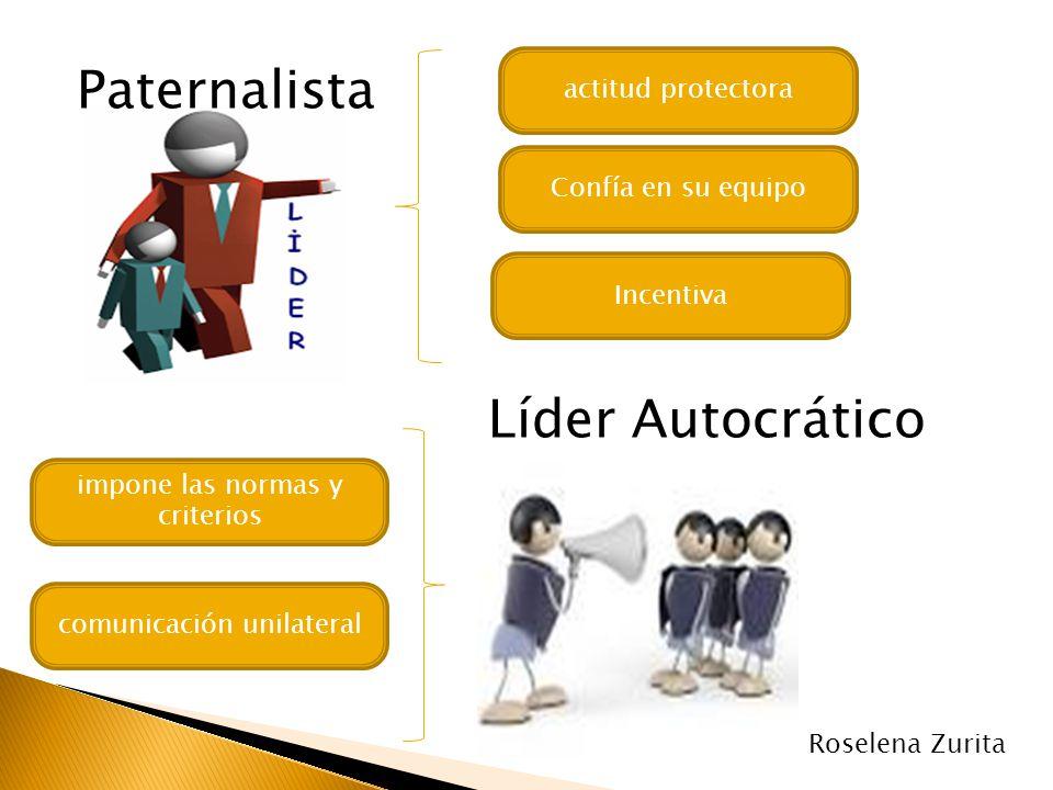 Paternalista Líder Autocrático actitud protectora Confía en su equipo