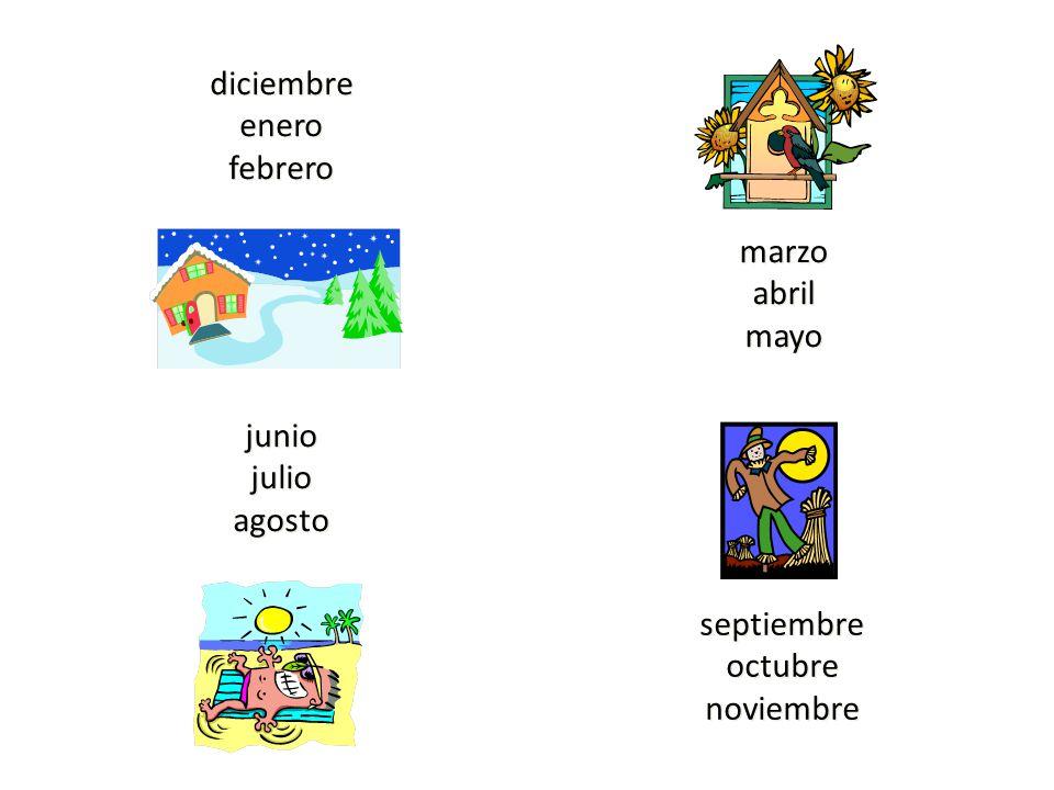 marzo abril mayo diciembre enero febrero junio julio agosto septiembre octubre noviembre