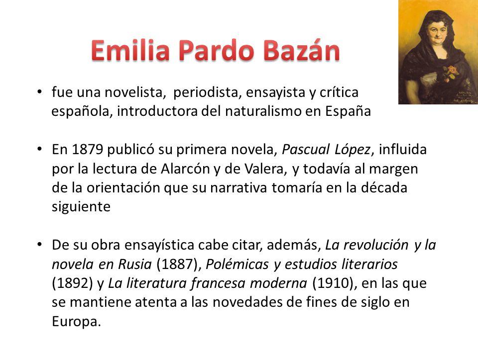Emilia Pardo Bazán fue una novelista, periodista, ensayista y crítica