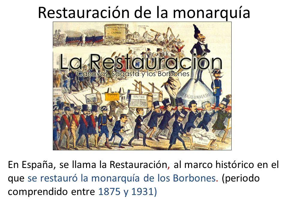Restauración de la monarquía