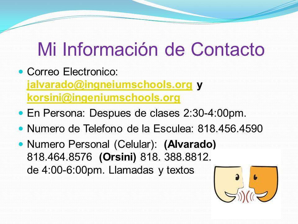 Mi Información de Contacto