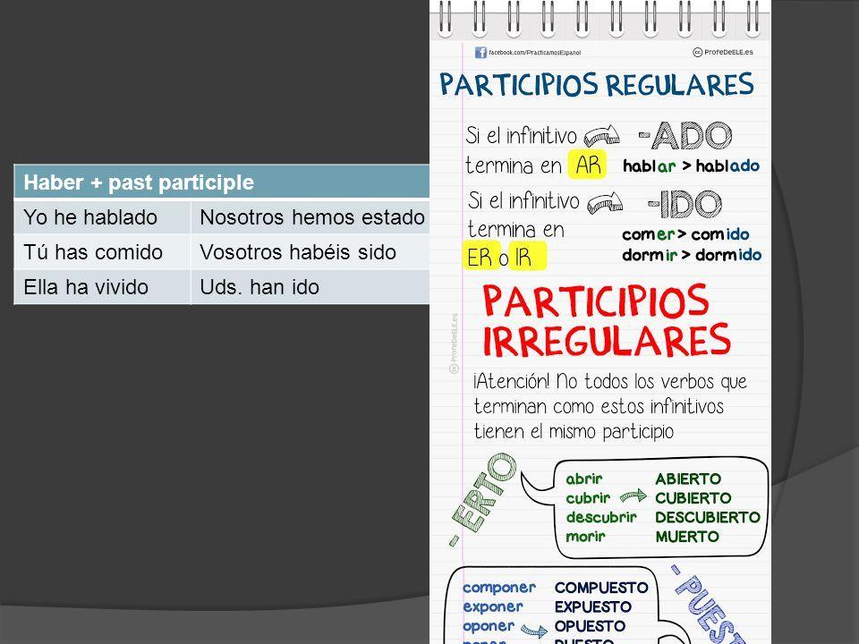 Haber + past participle