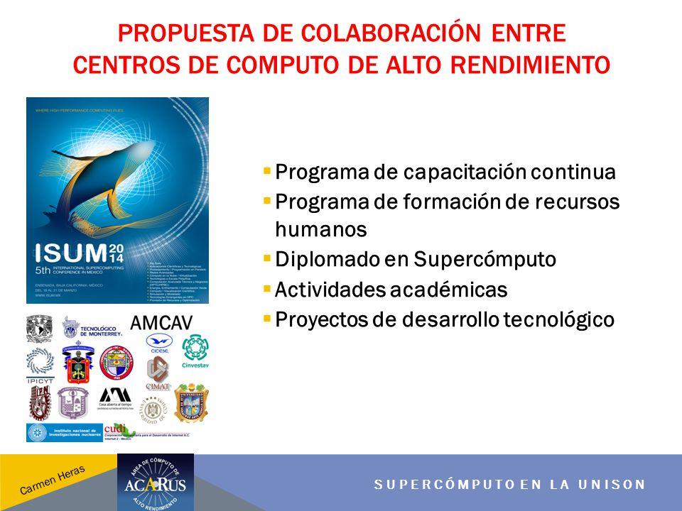 Propuesta de colaboración entre centros de computo de alto rendimiento
