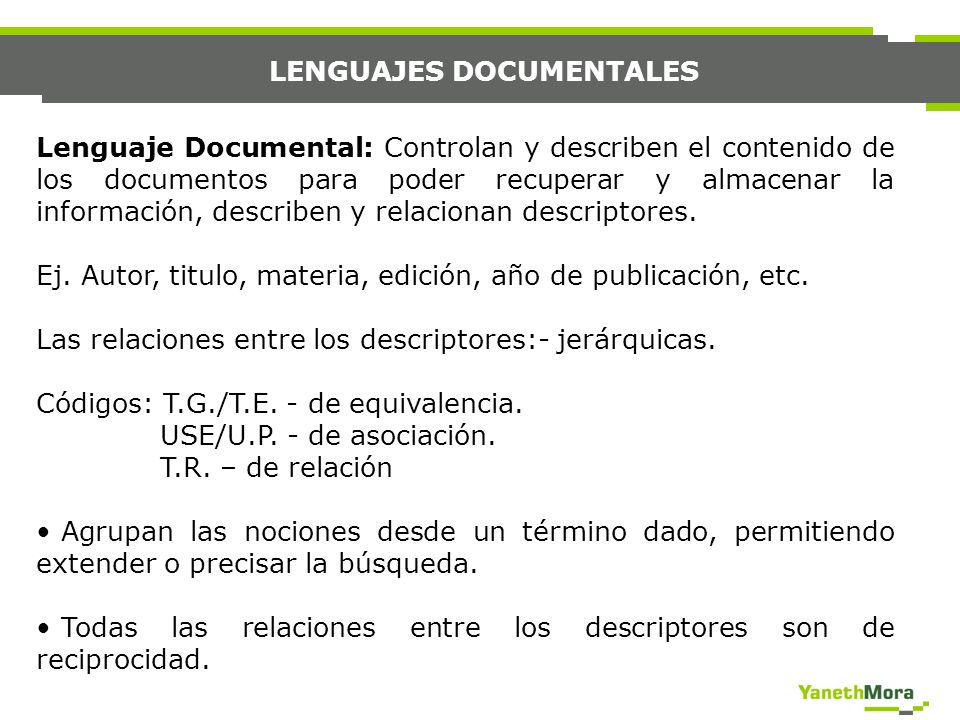 LENGUAJES DOCUMENTALES