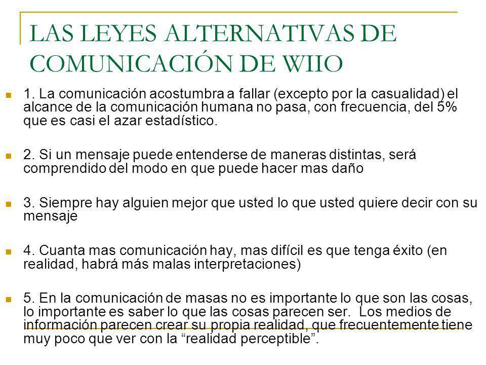 LAS LEYES ALTERNATIVAS DE COMUNICACIÓN DE WIIO