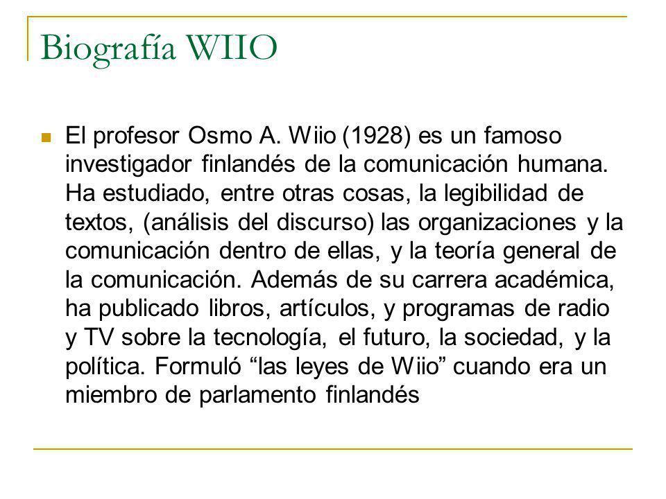 Biografía WIIO