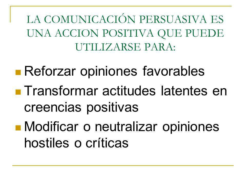 Reforzar opiniones favorables