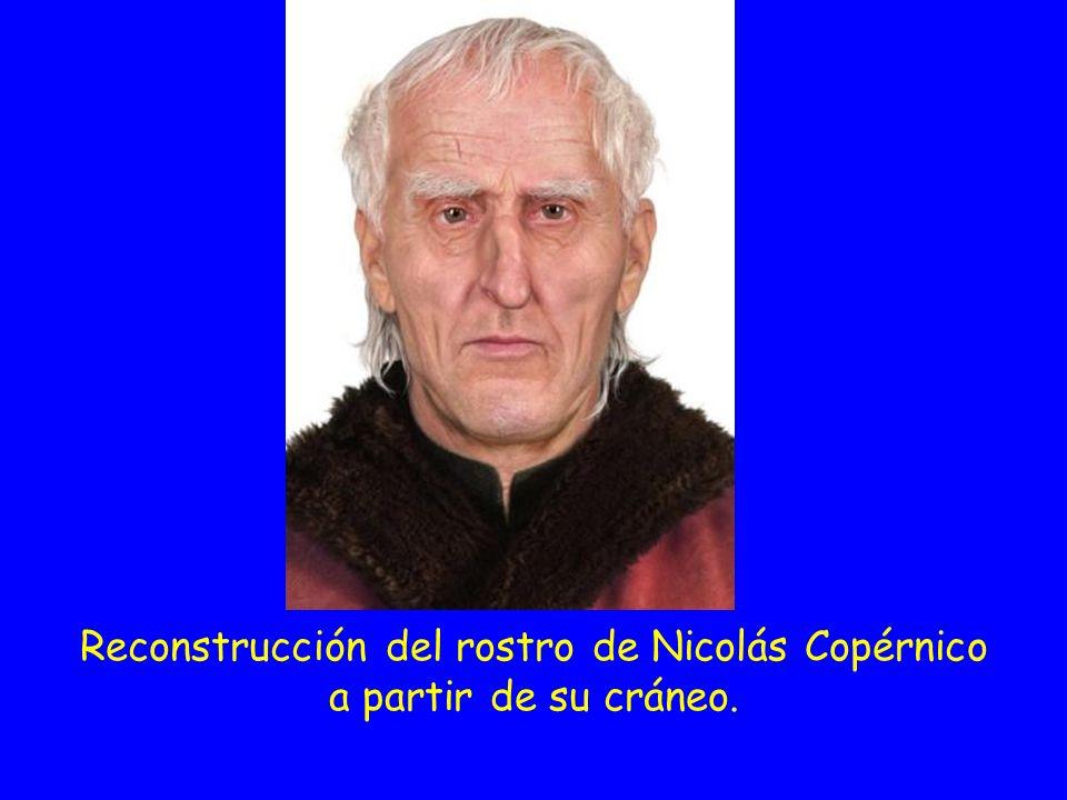 Reconstrucción del rostro de Nicolás Copérnico a partir de su cráneo.