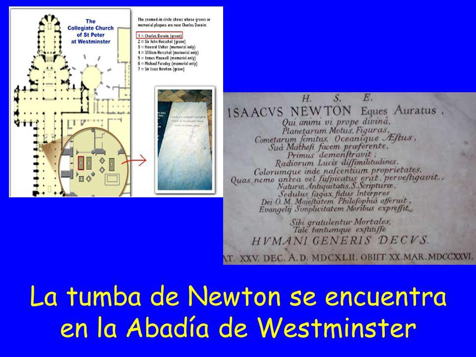 La tumba de Newton se encuentra en la Abadía de Westminster