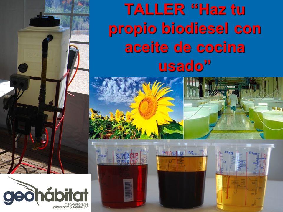 TALLER Haz tu propio biodiesel con aceite de cocina usado
