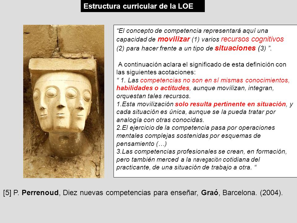 Estructura curricular de la LOE