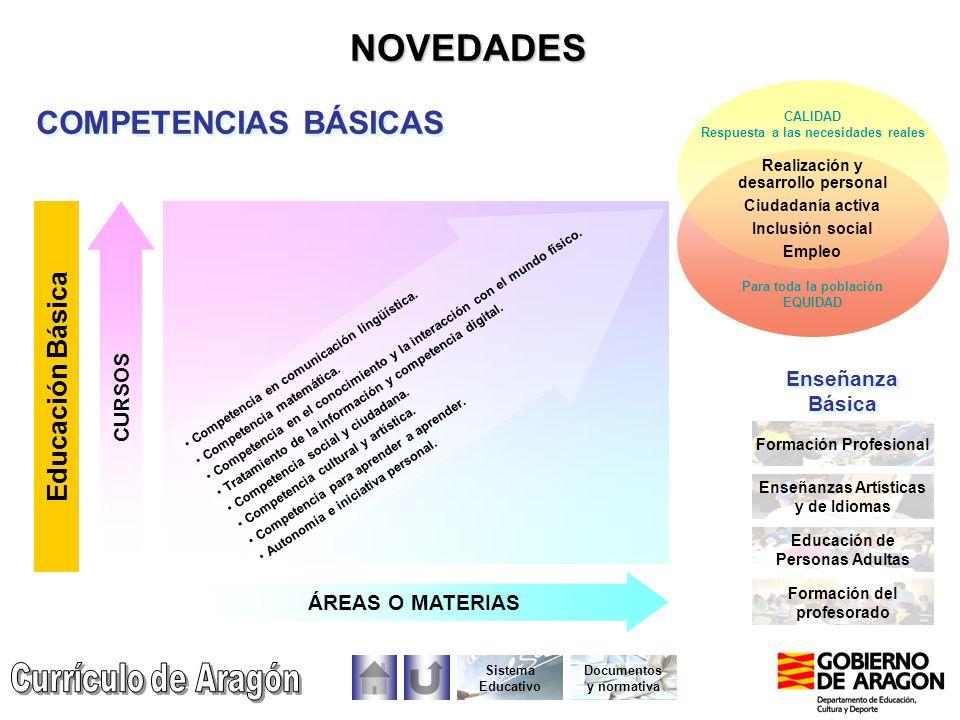 NOVEDADES COMPETENCIAS BÁSICAS Educación Básica CURSOS