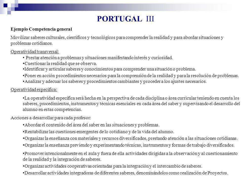PORTUGAL III Ejemplo Competencia general