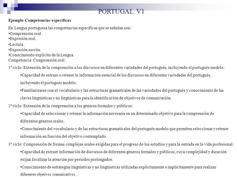 PORTUGAL V1 Ejemplo Competencias específicas