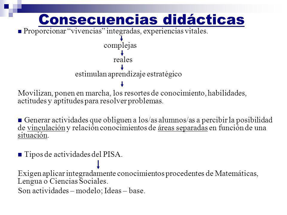 Consecuencias didácticas