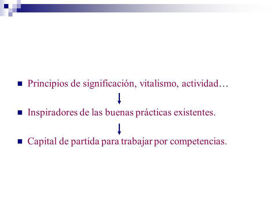 Principios de significación, vitalismo, actividad…