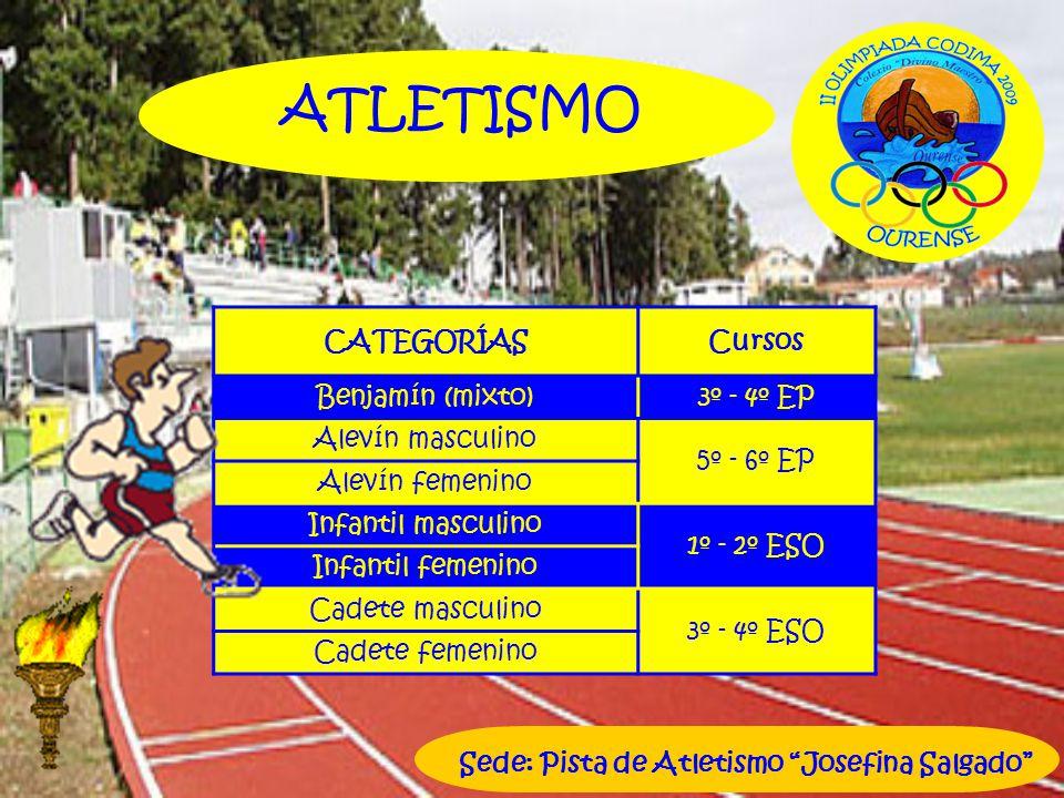 ATLETISMO CATEGORÍAS Cursos Benjamín (mixto) 3º - 4º EP