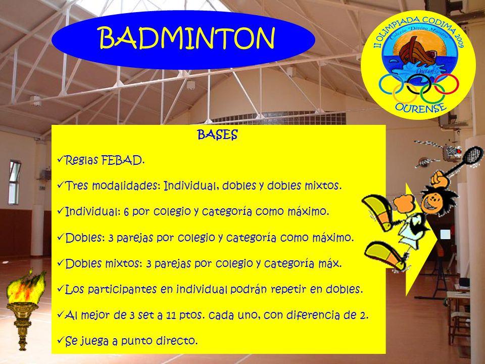 BADMINTON BASES Reglas FEBAD.