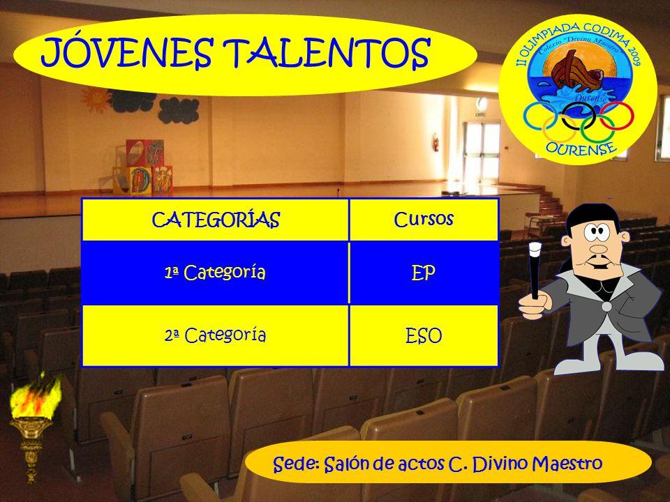 JÓVENES TALENTOS CATEGORÍAS Cursos 1ª Categoría EP 2ª Categoría ESO