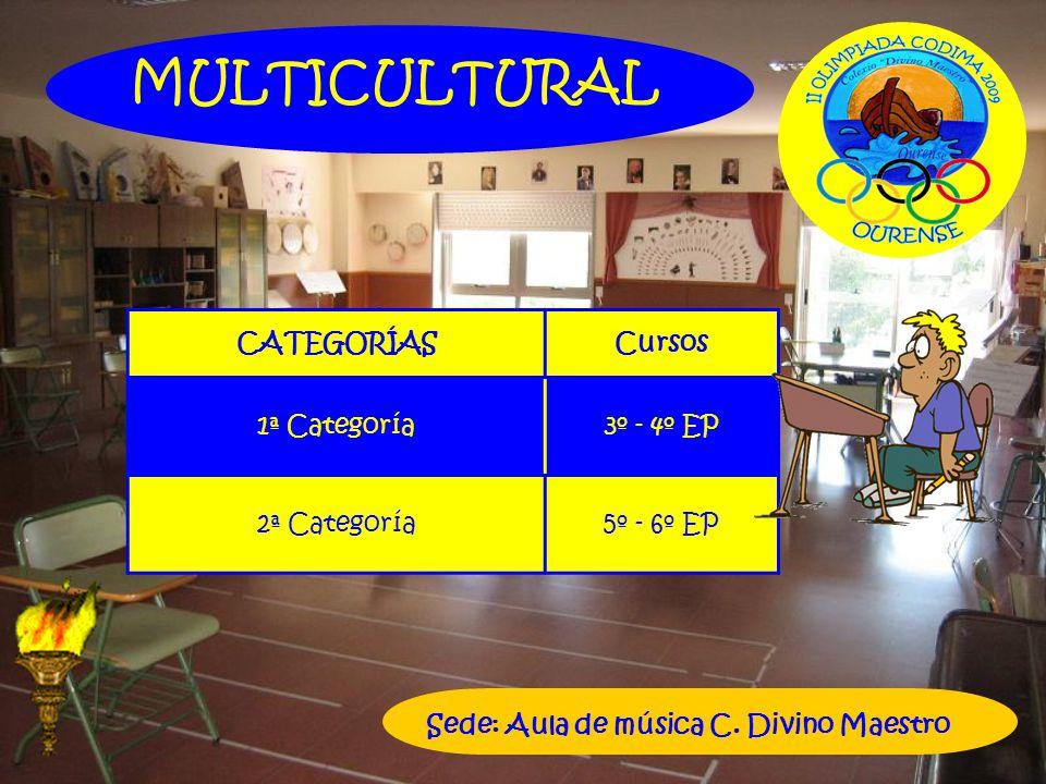 MULTICULTURAL CATEGORÍAS Cursos 1ª Categoría 3º - 4º EP 2ª Categoría