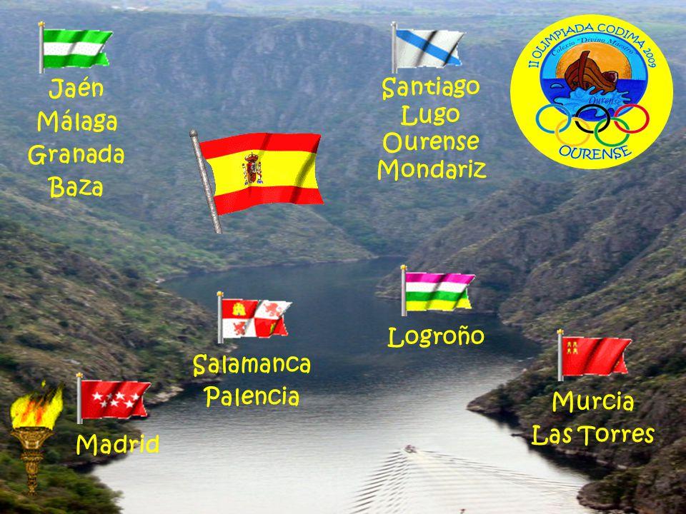 Jaén Málaga. Granada. Baza. Santiago. Lugo. Ourense. Mondariz. Logroño. Salamanca. Palencia.