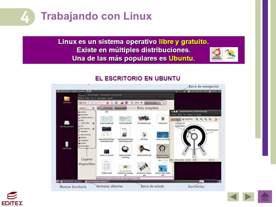 Trabajando con Linux Linux es un sistema operativo libre y gratuito.