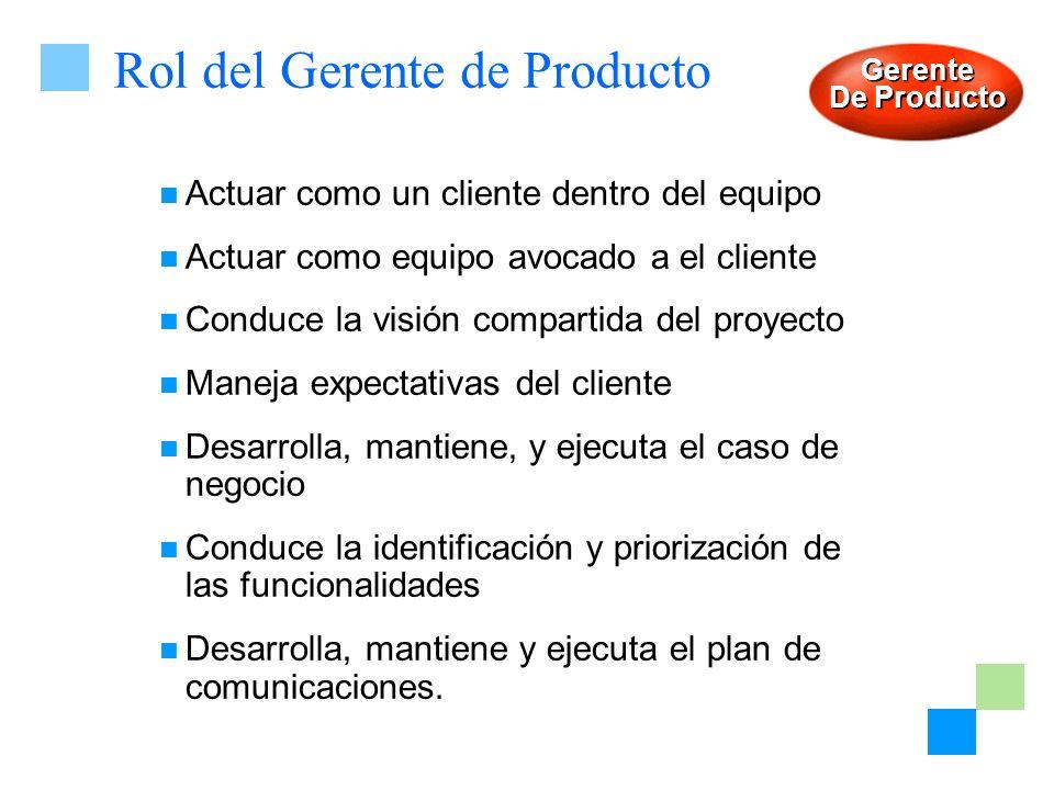 Rol del Gerente de Producto