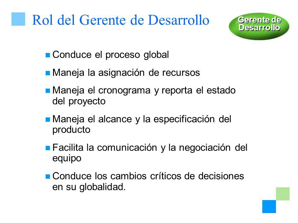 Rol del Gerente de Desarrollo