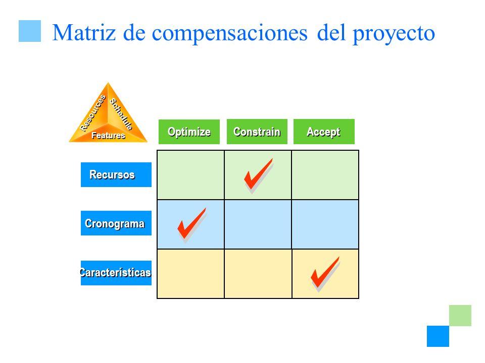 Matriz de compensaciones del proyecto