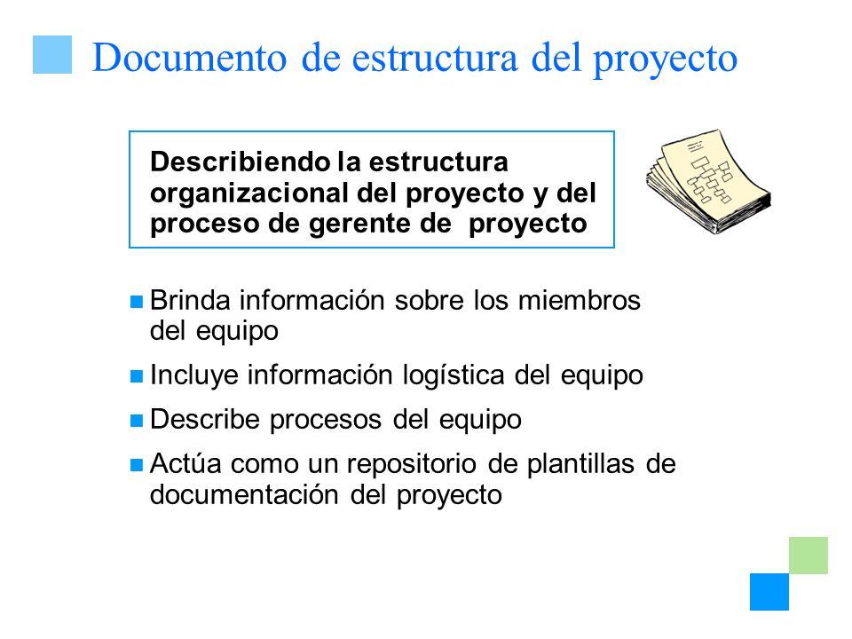 Documento de estructura del proyecto