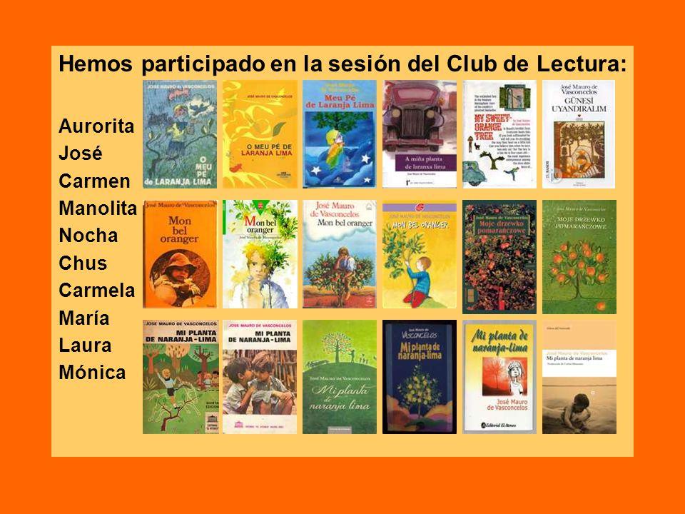 Hemos participado en la sesión del Club de Lectura: