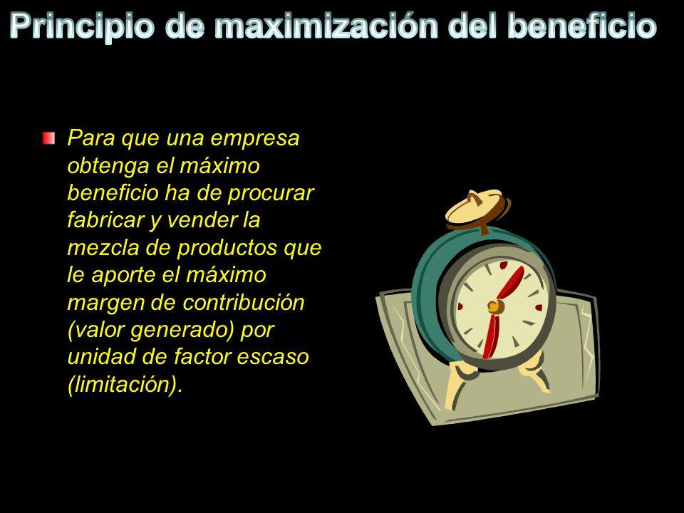 Principio de maximización del beneficio