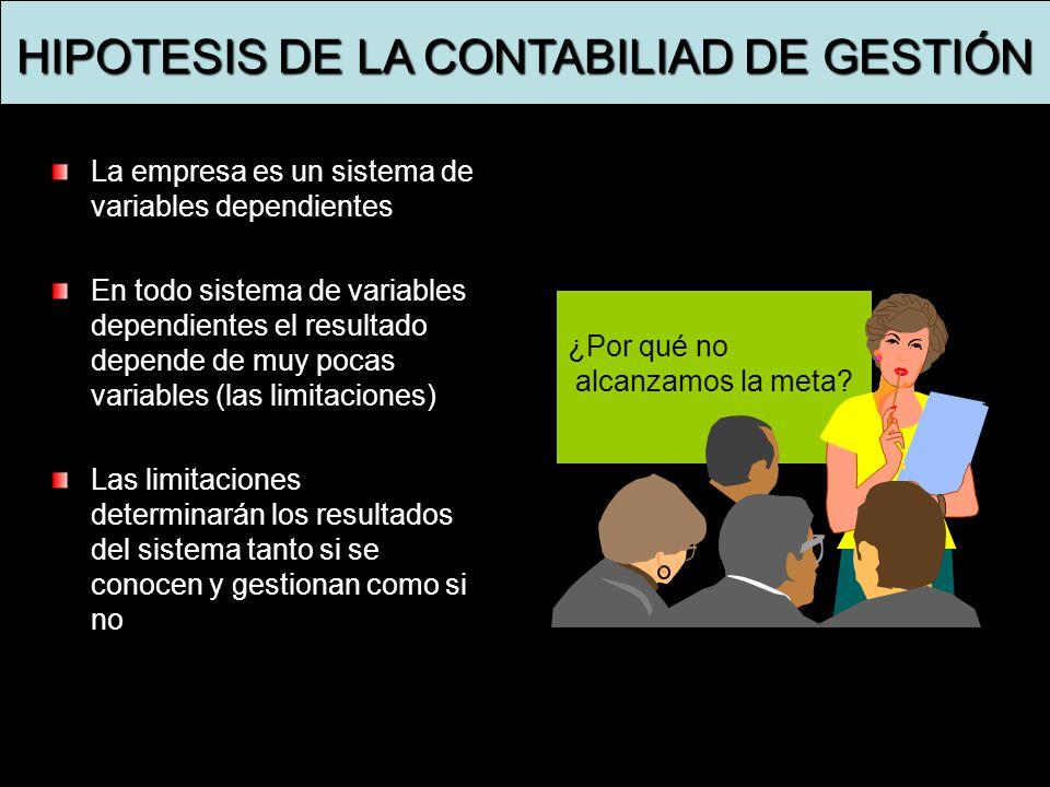 HIPOTESIS DE LA CONTABILIAD DE GESTIÓN