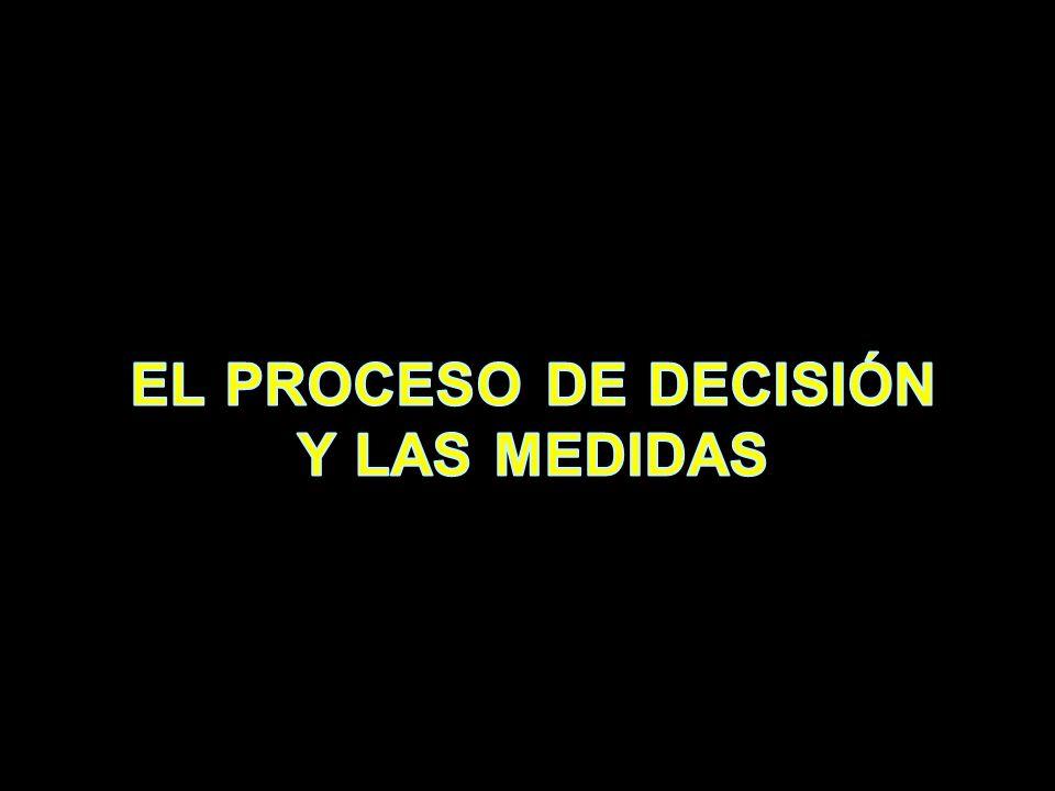 EL PROCESO DE DECISIÓN Y LAS MEDIDAS