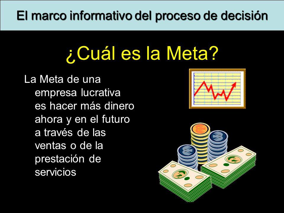 El marco informativo del proceso de decisión