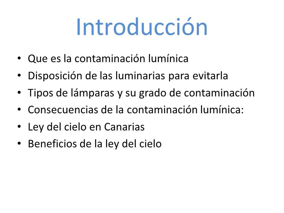 Introducción Que es la contaminación lumínica