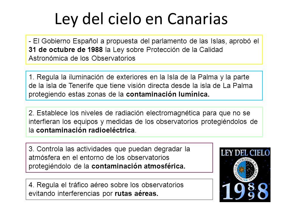 Ley del cielo en Canarias