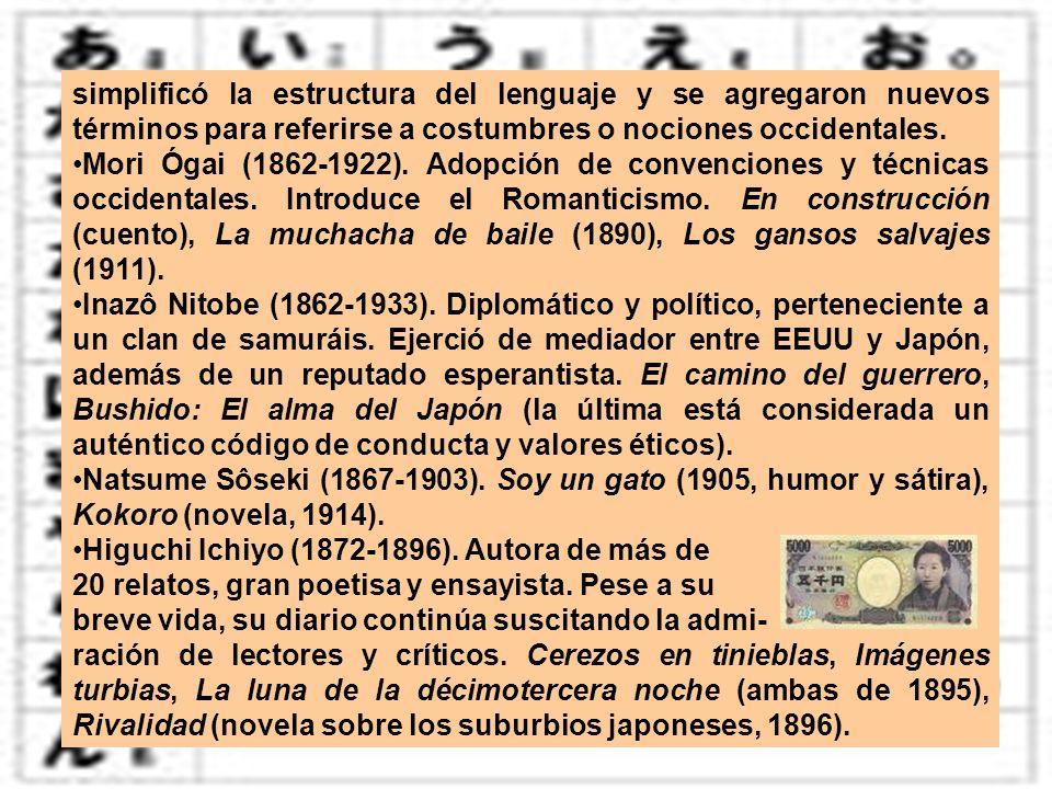 simplificó la estructura del lenguaje y se agregaron nuevos términos para referirse a costumbres o nociones occidentales.