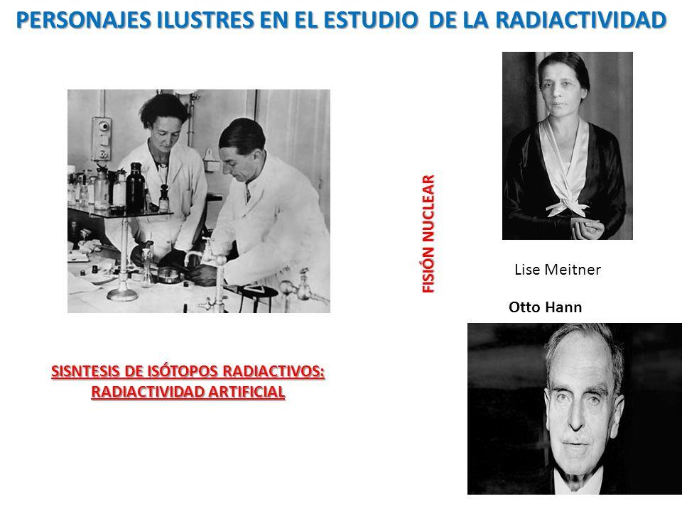 PERSONAJES ILUSTRES EN EL ESTUDIO DE LA RADIACTIVIDAD