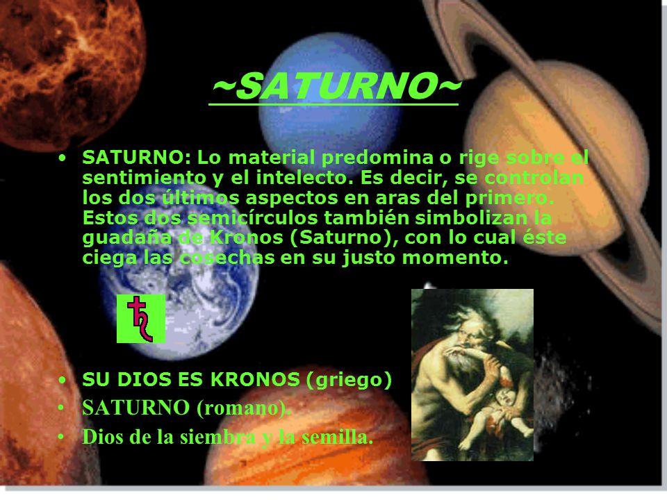 ~SATURNO~ SATURNO (romano). Dios de la siembra y la semilla.