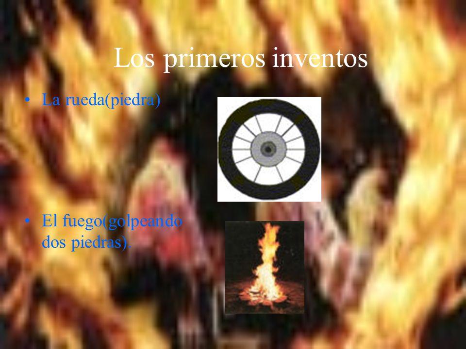 Los primeros inventos La rueda(piedra)