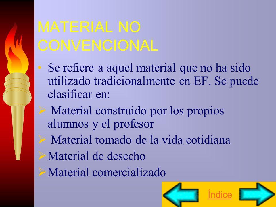 MATERIAL NO CONVENCIONAL