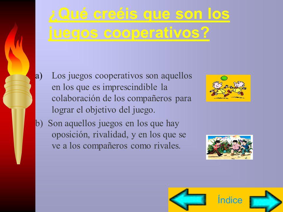 ¿Qué creéis que son los juegos cooperativos