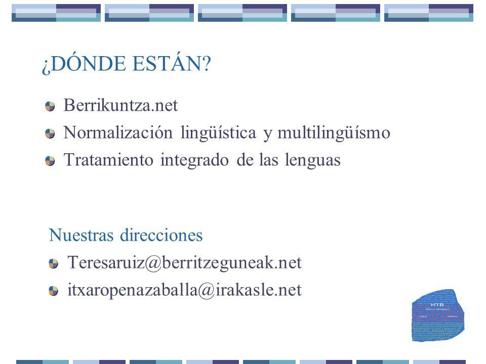 ¿DÓNDE ESTÁN Berrikuntza.net