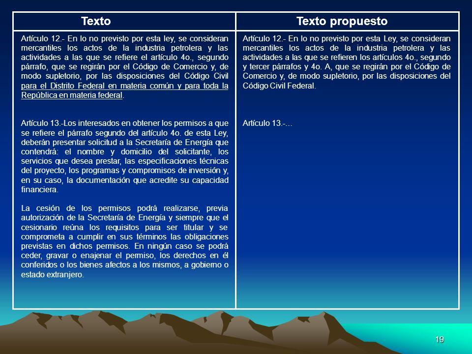 Texto Texto propuesto.