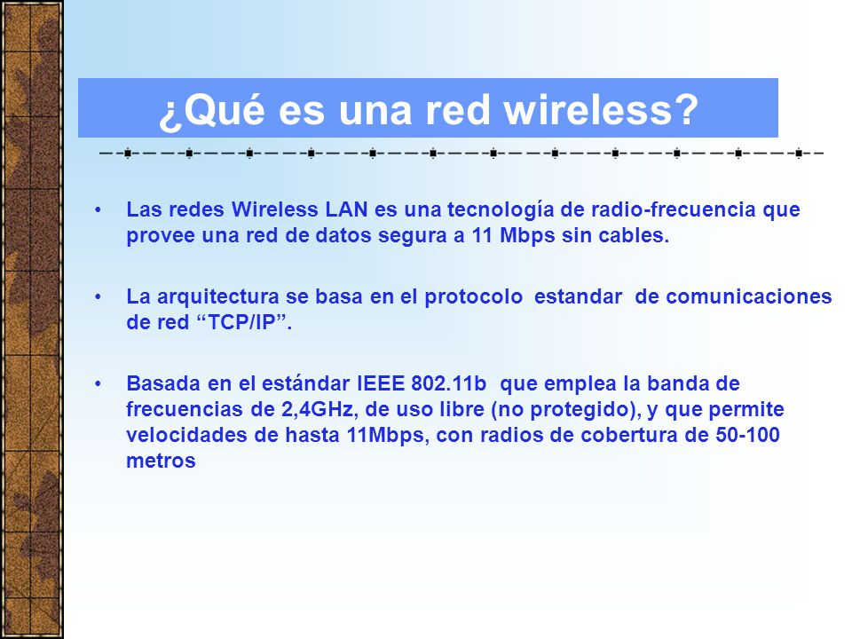 ¿Qué es una red wireless