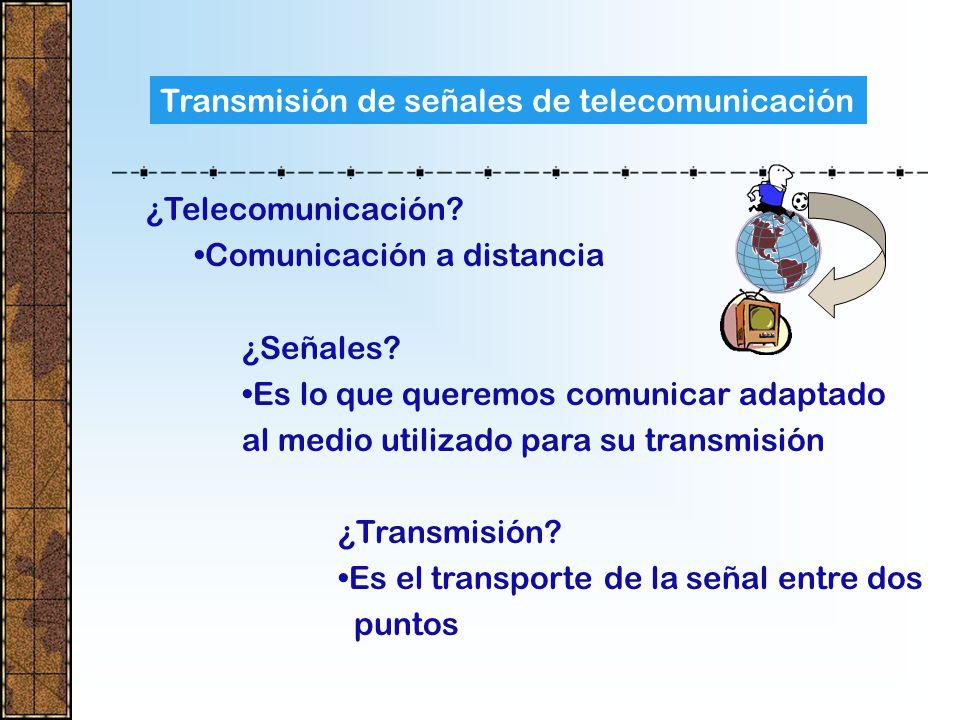 Transmisión de señales de telecomunicación