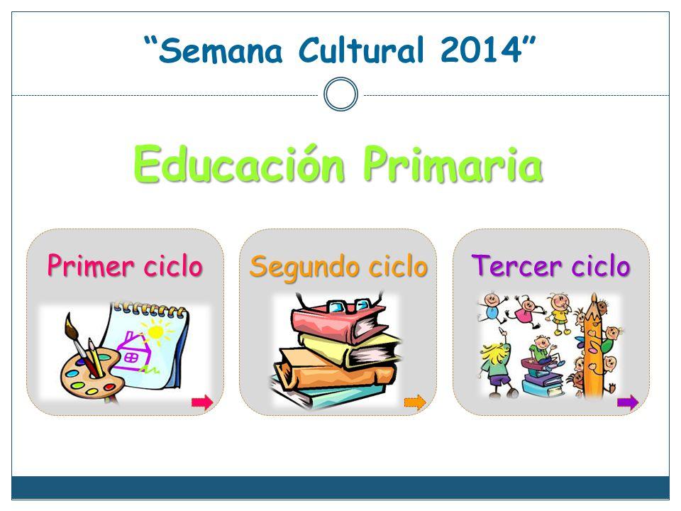 Educación Primaria Semana Cultural 2014 Primer ciclo Segundo ciclo
