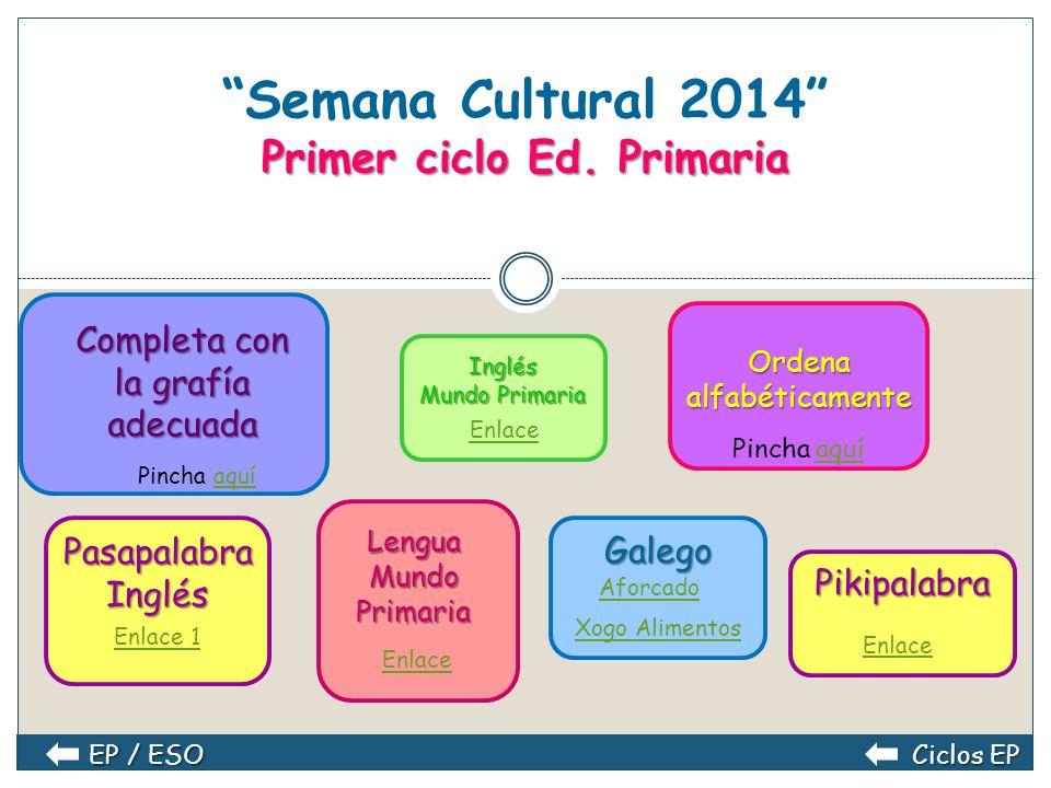 Semana Cultural 2014 Primer ciclo Ed. Primaria