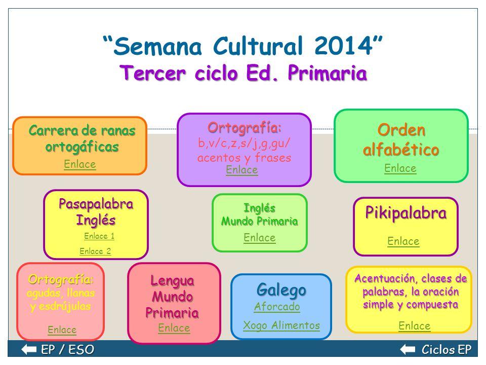 Semana Cultural 2014 Tercer ciclo Ed. Primaria